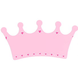 WoodenToys_Plaques_PinkCrownSmall