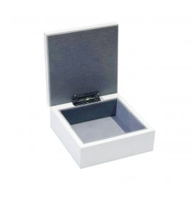 Inside Small White Jewellery Box